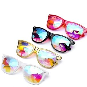 Accessories - Diffracted Glass Lens Kaleidoscope Glasses